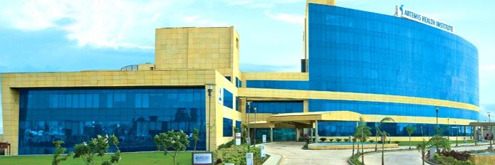 Artemis Health institute Front View, Gurgaon