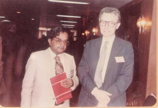 Dr. Sudhir Dagaonkar and Nobel Laureate Dr. Peter Bergstorm