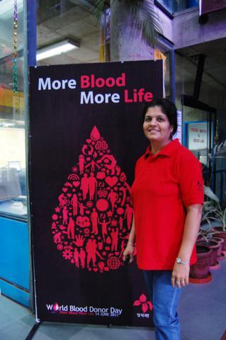 Prathma Staff in Red T-shirt on WBDD 2011