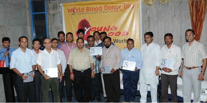 Silver Jubilee Blood Donors